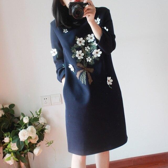 738935f3aa 4xl mais mulheres tamanho grande roupas 2017 primavera outono vestidos de  inverno coreano bonito doce flor