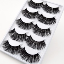 3D False Thick Eyelashes 5 Pairs Set