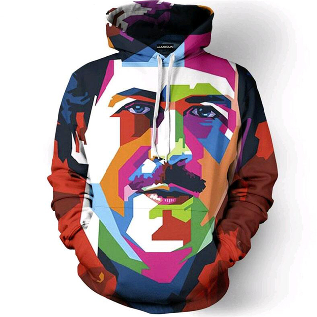 Hot Men Women pullover Pablo Escobar Work of Art 3D Digital printing Hooded sweatshirts Streetwear Creative Casual Hoodies
