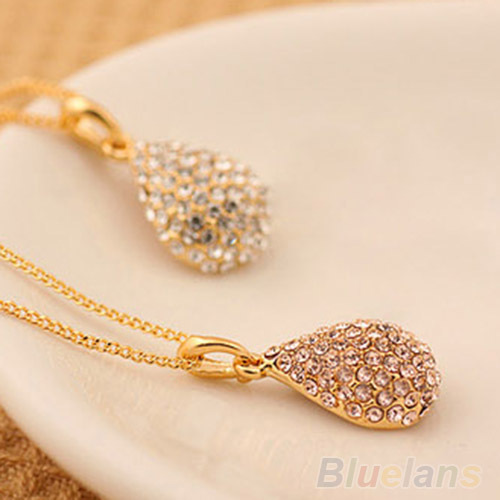 New fashion ladys silver plated crystal teardrop necklace shiny new fashion ladys silver plated crystal teardrop necklace shiny pendant for women 1nxf 6o8j in pendant necklaces from jewelry accessories on aloadofball Image collections