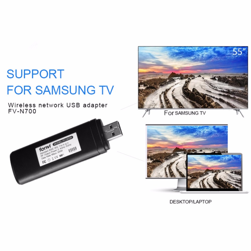 300mbps New Wireless Lan Network Usb 2.0 Adapter Wifi Dongle 2.4g 5g For Samsung Smart Tv Wis12abgnx Wis09abgn Suitable For Desk A Great Variety Of Goods