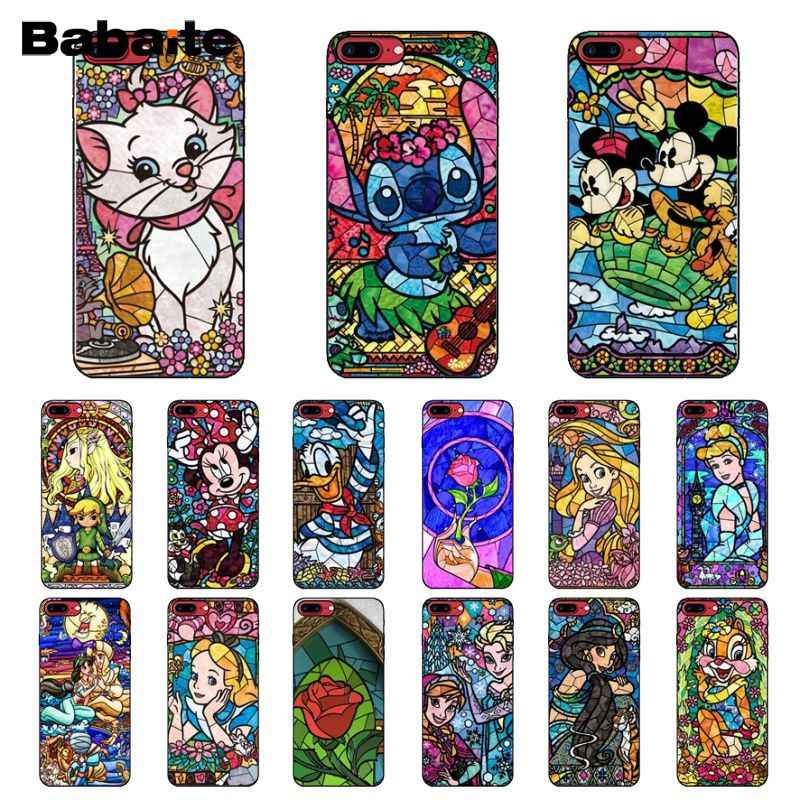 Babaite fairy tale stained Alice ตะเข็บ Mickey Mouse Marie Cat โทรศัพท์สำหรับ iPhone 6 S 6 plus 7 7 plus 8 8 Plus X Xs MAX 5 5 S XR