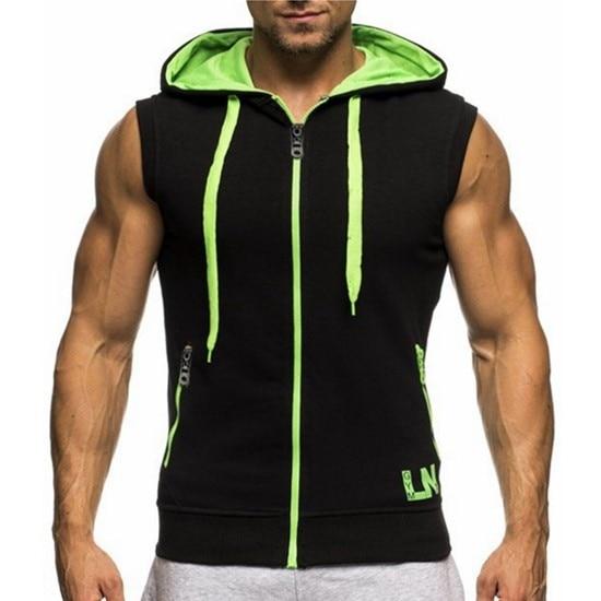ZOGAA 2018 new PLUS SIZE S XXXL Mesh Men 39 s Sleeveless letter Printing Tank Top Men 39 s Hooded Vest in Hoodies amp Sweatshirts from Men 39 s Clothing