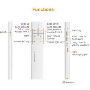 Image 3 - Knorvay N89新充電式ワイヤレスエアマウスプレゼンター、2.4 2.4ghz pptプレゼンテーションワイヤレスリモコンクリッカー