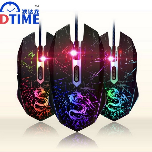 dtime usb optical wired game mouse gamer games gaming mouse mice