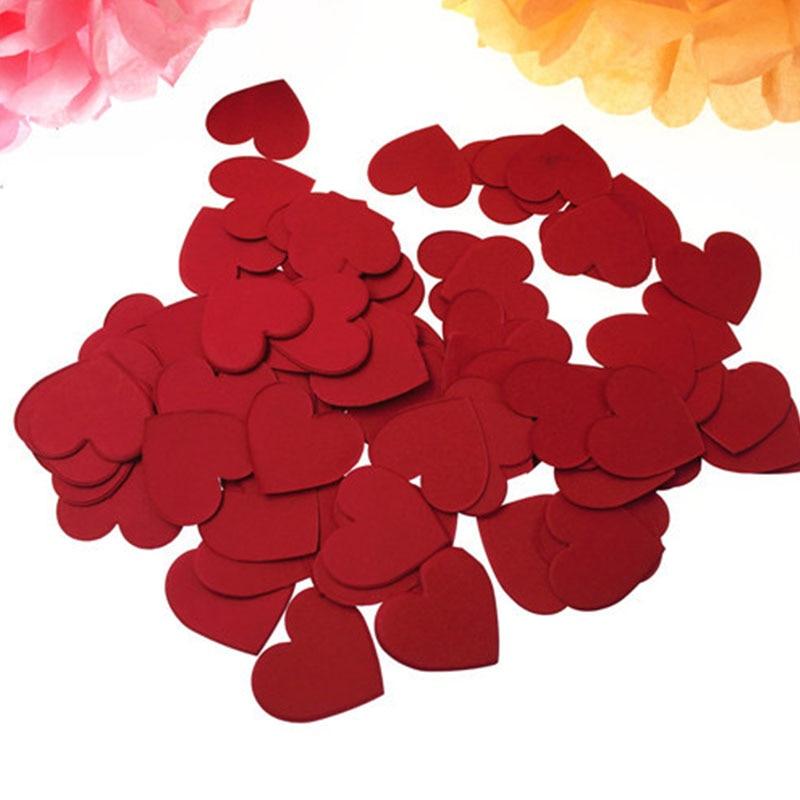 Amor Confett Fontes Decorativas 100 unidades/pacote Jogando Pétalas Polvilhe Romantic Wedding Party Rtificial Colorido Heart-Shaped