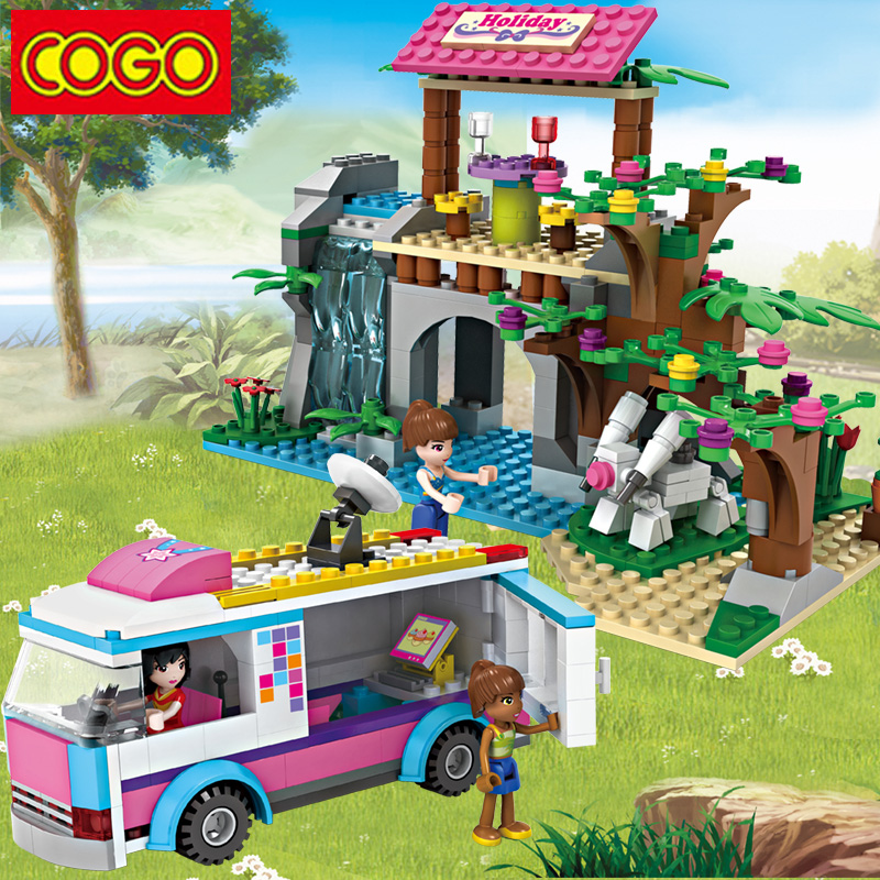 COGO Building Blocks Dream Girl Educational Building Blocks ABS Plastic Blocks 440+pcs DIY Bricks Playmobil Toys For Children
