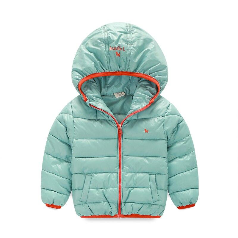 Щенок Вышивка теплые Обувь для мальчиков/зимние пальто для девочек Повседневное детские куртки с капюшоном Детская верхняя одежда детская ...