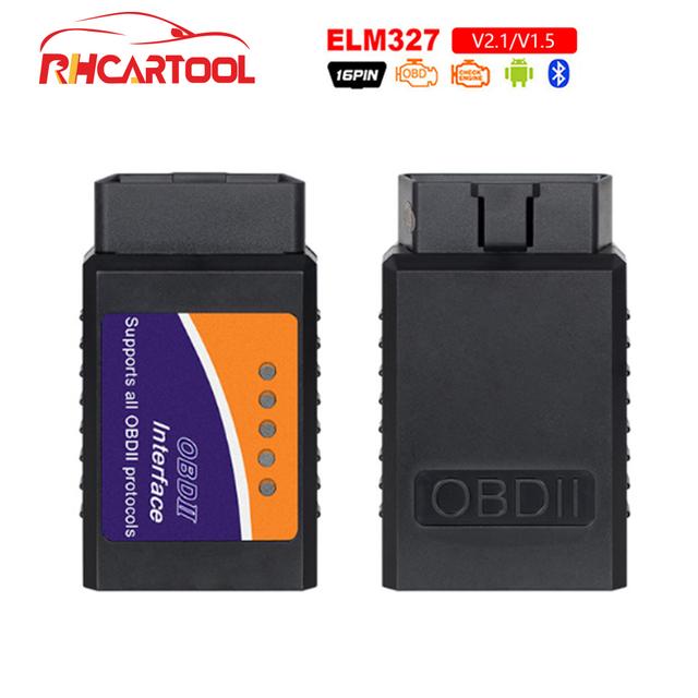 OBD2 Code reader ELM327 Bluetooth Hardware V1.5 v2.1 Interface ELM 327 OBD2 OBD 2 Auto Diagnostic-tool Work On Android/PC Torque