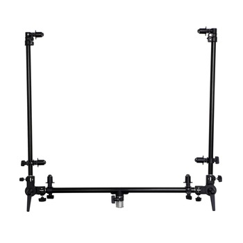 Meking Dual Arm Reflector Holder w/ Light Stand Mount Swivel Connector Free Angle Extension Pole for Studio Portrait Cover Shoo