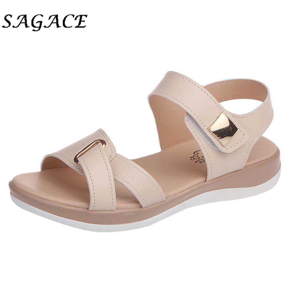 SAGACE Beach Sandals Shoes Pumps Wedge Rubber Low-Heels Elegant Women Casual