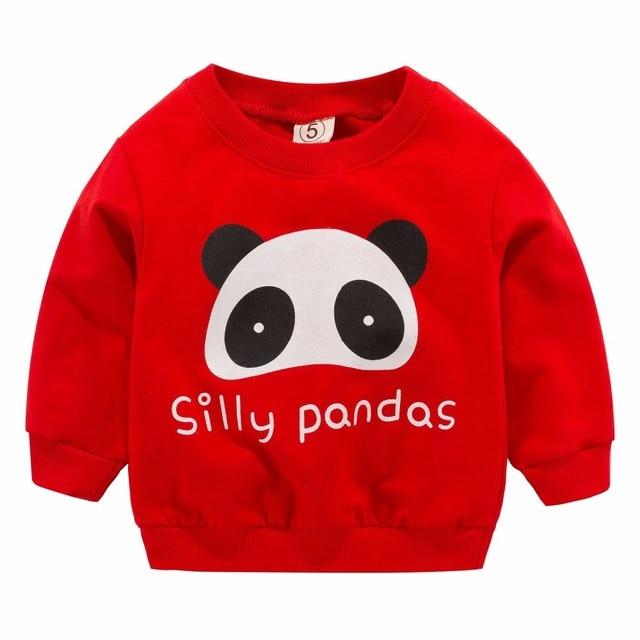 2019 New Baby Boys Girls Sweatshirts Newborn Cute Fun Blouse Kids Hoodies Children Pullover Tops Autumn Baby Clothes