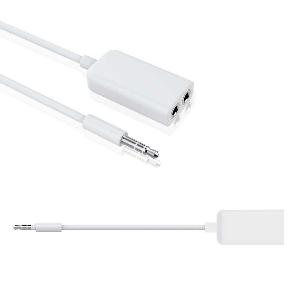 3,5 мм разъем 1 в 2 выход Наушники Aux кабель сплиттер наушники мобильный телефон разъем один в два пары для аудио линии