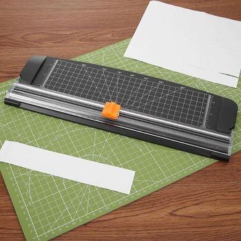 Przenośny A4 przycinarka do papieru frezy linijka precyzyjne papieru zdjęć naklejki do albumu etykiety narzędzia tnące gilotyna DIY Craft tanie i dobre opinie 201818156 Plastic