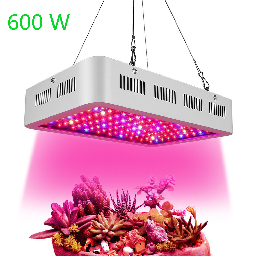 HOLLKY Full Spectrum 600W LED Grow Light AC 85-265V Plant Growth Lamp For Hydroponics and Indoor Plants Flowers Growing best full spectrum 300w led cultivate light for hydroponics greenhouse grow tent led lamp suitable for all plant growth 85v 265v