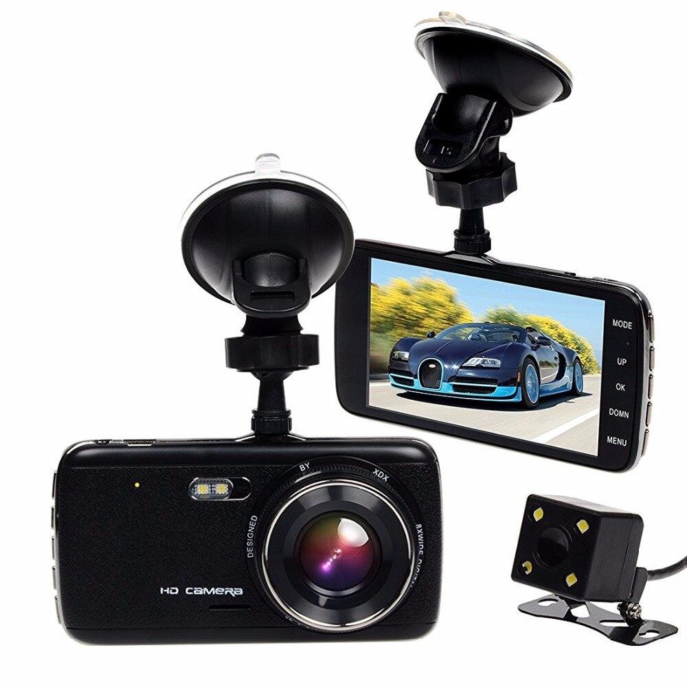 ФОТО TOGUARD 4.0'' IPS Screen Dash Cam, Dual Lens Car DVR, Rearview Camera, FHD 1080P H.264, 130 Degree Wide Angle, G-sensor Recorder