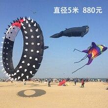 Радужный мягкий большой роликовый воздушный змей с драконом и серфом volant vlieger, Летающая акула, ветровка pipa voadora ripstop, нейлоновый воздушный змей, игрушки для пляжа