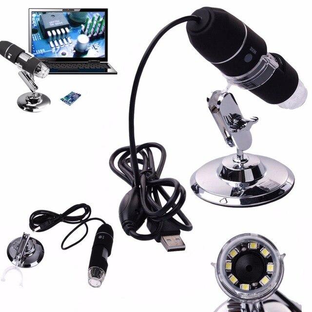 Discount 500x 800x 1000x Digital USB Microscope 2MP 8 LED Tripod Base Mini Camcorder LED for mac Electronic Window System