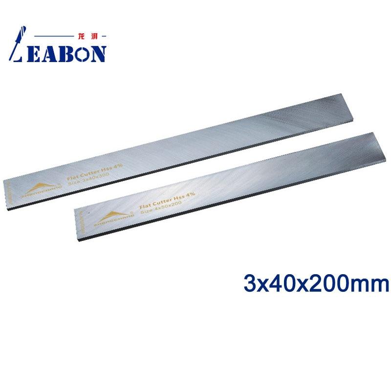 LEABON W4% HSS Flat Wood Planer Blades 3 X40x200mm Woodworking Power Tools Accessories  (A01008029)