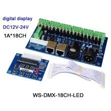 DC5V-36V,digital tube display,3CH/4CH/12CH/18CH/24CH/36CH DMX512 Decoder,RGB/RGBW led controller for led strip light led module цена 2017
