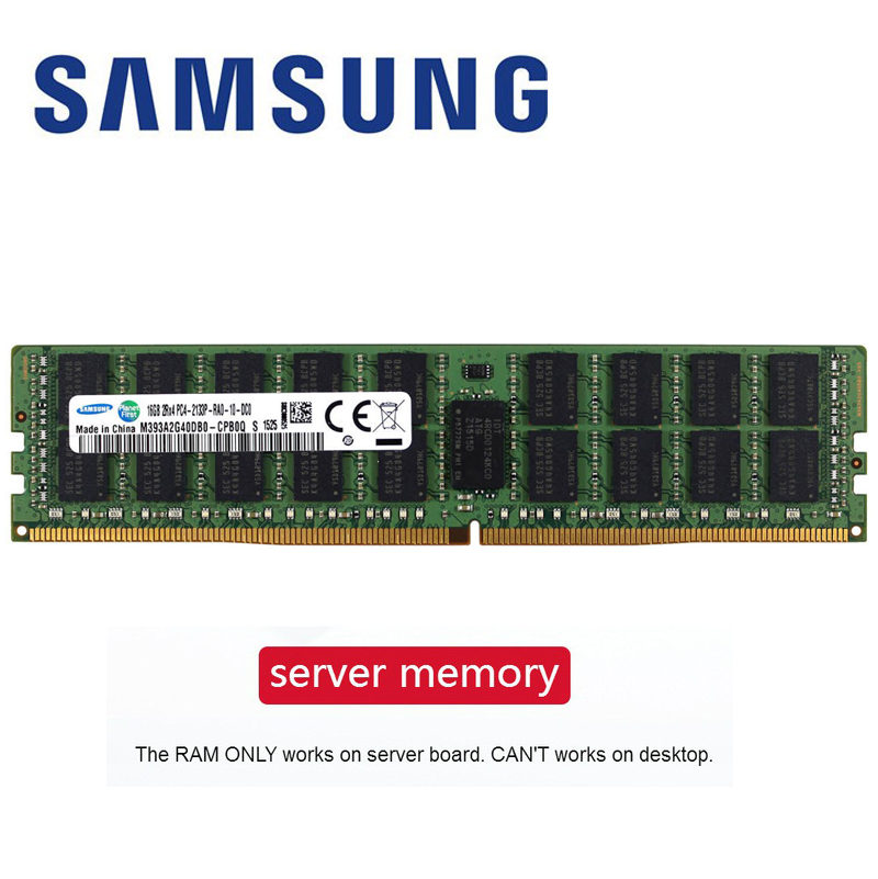 Samsung ram ddr4 8 gb 4 GB GB PC4 16 2133 MHz ou 2400 MHz 2666 MHZ 2400 T ou 2133 P 2666 V ECC REG Servidor Memória 4G 16g 8g ddr4