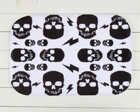40 X60cm Custom Small Black Skull Printed Rectangular Carpet Living Room Dining Room Kitchen Anti Skid