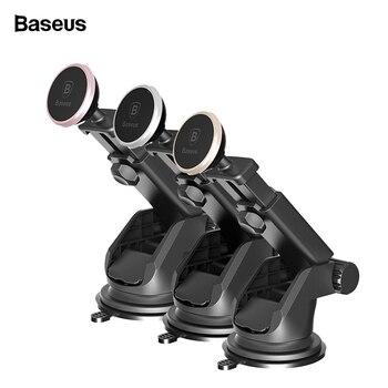 Baseus حامل هاتف السيارة المغناطيسي ل فون Xs ماكس X 8 تلسكوبي الالتصاق سيارة حامل لتابلوه السيارة الخليوي حامل هاتف المحمول الوقوف