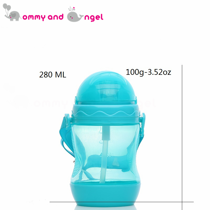 MOMMY AND ANGEL Calssic Boy&Girl Closer to Nature Fiesta Bottle Sippy Cup for Kid Straw Feeding Bottle (3 Colour,280ml,ABE/8084)