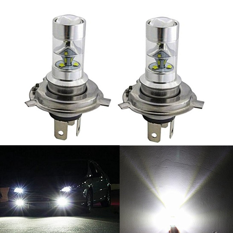 2pcs H4 6000k 1200LM 45W 9SMD External LED Fog High Low Beam Headlight Light Bulb Lamp Super Bright Led Replacement H4 9003 HB2 12v led light auto headlamp h1 h3 h7 9005 9004 9007 h4 h15 car led headlight bulb 30w high single dual beam white light