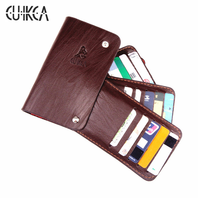 Cuikca retro style unisex genuine leather business id credit card cuikca retro style unisex genuine leather business id credit card holders cases 3 colours rotate hasp reheart Image collections