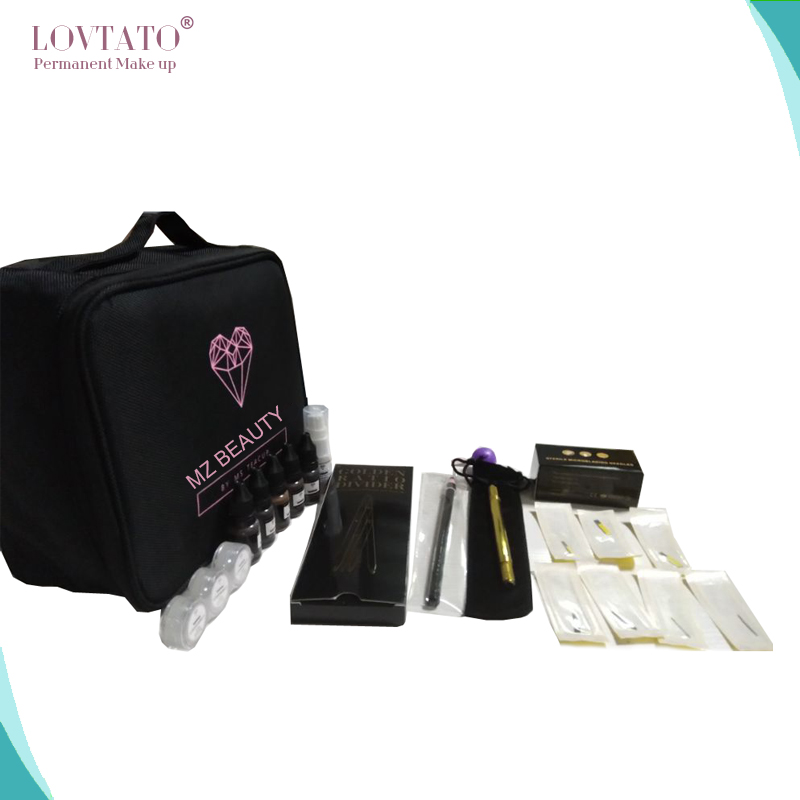 купить Microblading Professional Kits Permanent makeup Starter Kit tattoo supplies 3D eyebrow pmu tattoos needles micropigment sets недорого