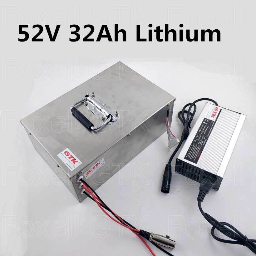 14s 52v 30ah 32ah Lithium Ion Battery Pack With Bms For