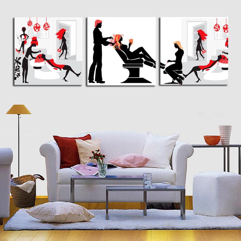 sin marco panel de pelo saln de pintura abstracta de la lona wall art imagen