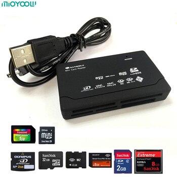 Lecteur de carte tout-en-un TF MS M2 XD CF lecteur de carte Micro SD USB 2.0 480Mbps lecteur de carte Mini chargeur de mémoire avec ligne de Date
