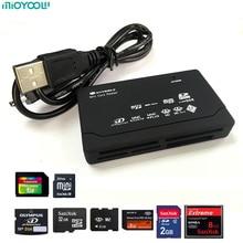Alle in Een Memory USB Externe Kaartlezer SD SDHC Mini Micro M2 MMC XD CF Zwart Hoge Kwaliteit