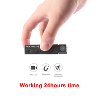 working 24hours newest Portable Magnetic Mini camera Body Camera voice and Video Recorder with Motion Detection pk sq8 sq11