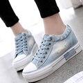 Zapatos de Mezclilla Lavado Con Agua de la vendimia 2017 Zapatos de Plataforma Transpirable Zapatos de Lona Ocasionales de Las Mujeres Entrenadores Zapatillas de Suela Gruesa G104