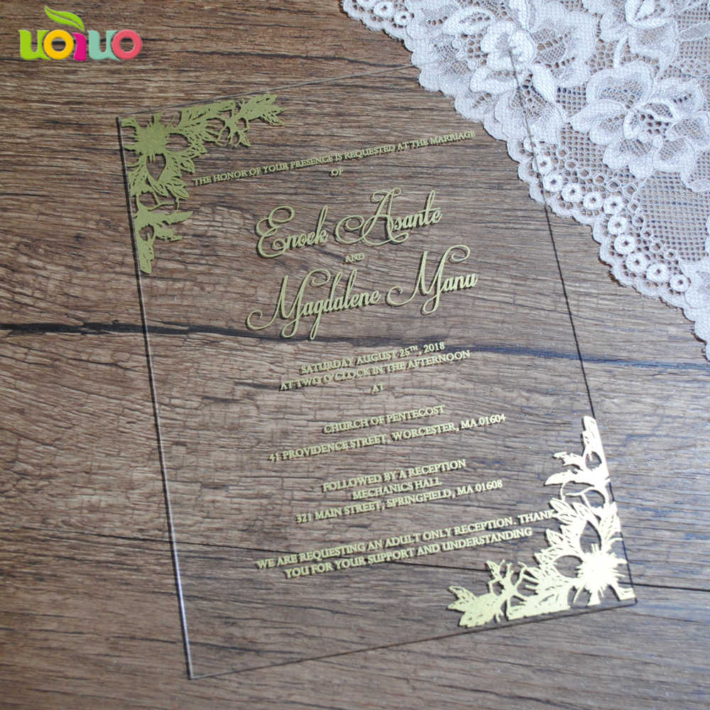 Newest Wholesale Personalised Printable Clear Acrylic Wedding ...