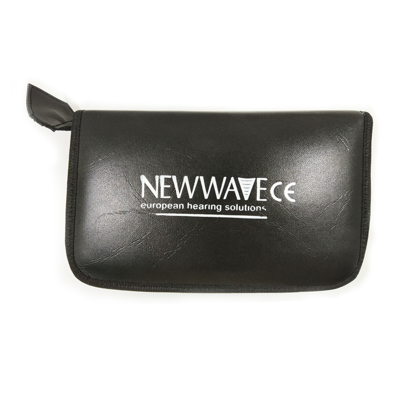 NEWWAVE Diagnostic set Aluminum laryngoscope Leather zipper portable set