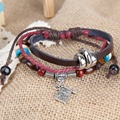 Top Sell Pirate Flag Beads Unisex Braid Bracelet Girl Boy String Band Bangle    SL