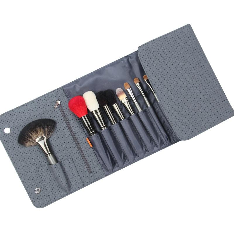 ZOREYA 26 шт., набор профессиональных кистей для макияжа, роскошные натуральные козьи волосы, веер, косметический набор кистей для макияжа, красивые кисти для теней - 5