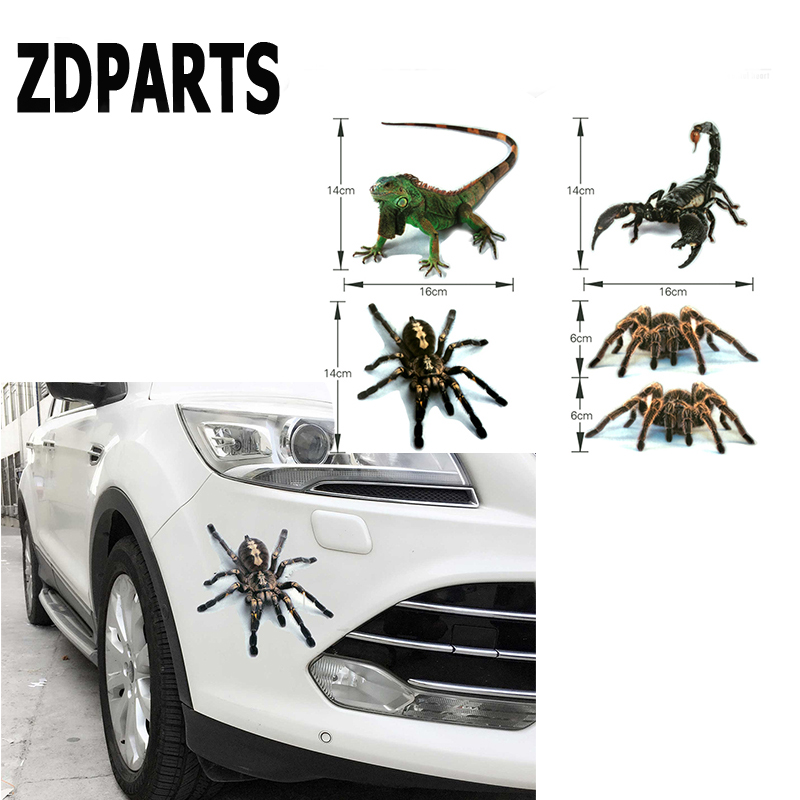 ZDPARTS 3D Car Spider Emblem Truck Motor Window Stickers Cover For Audi A3 A4 B7 B8 B6 A6 C6 C5 Q5 Nissan Qashqai Juke X-trail