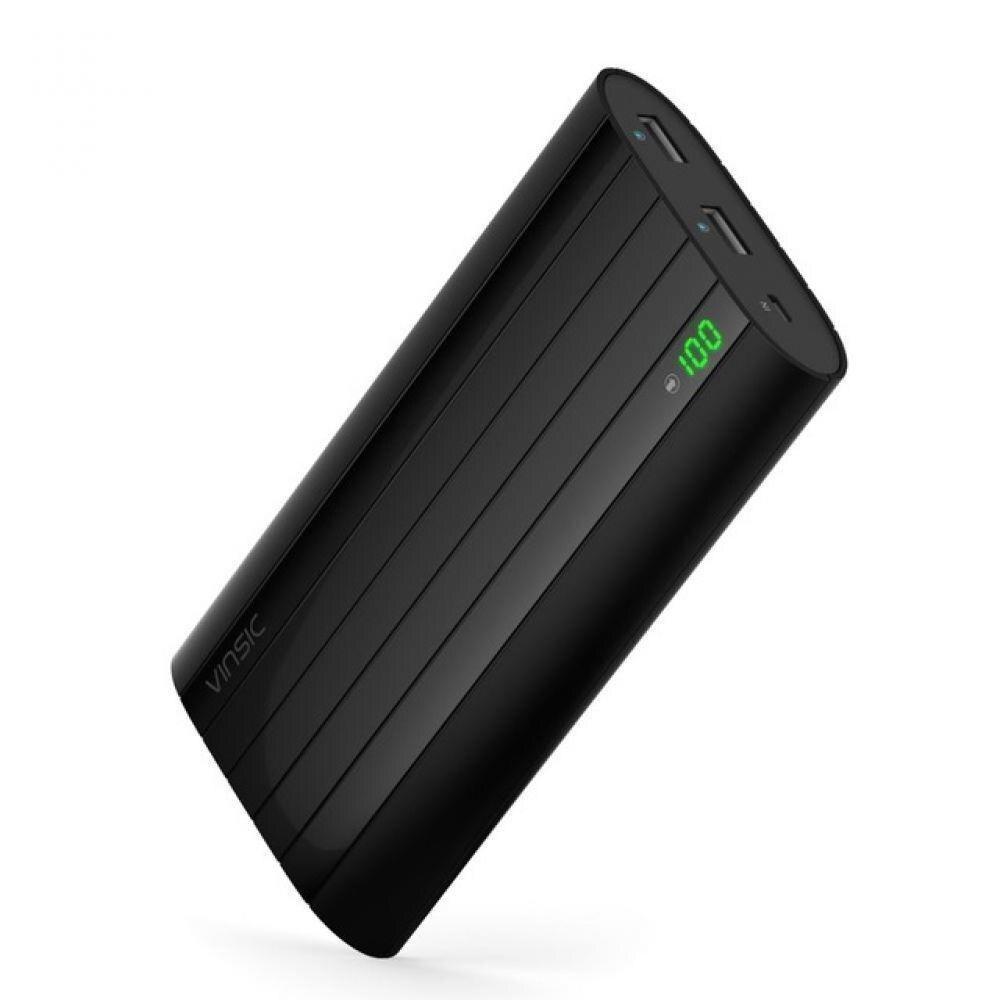 Vinsic 20000 mah batterie externe 18650 LCD batterie externe portable banque d'alimentation de chargeur Rapide alimentation Poverbank Pour Xiaomi
