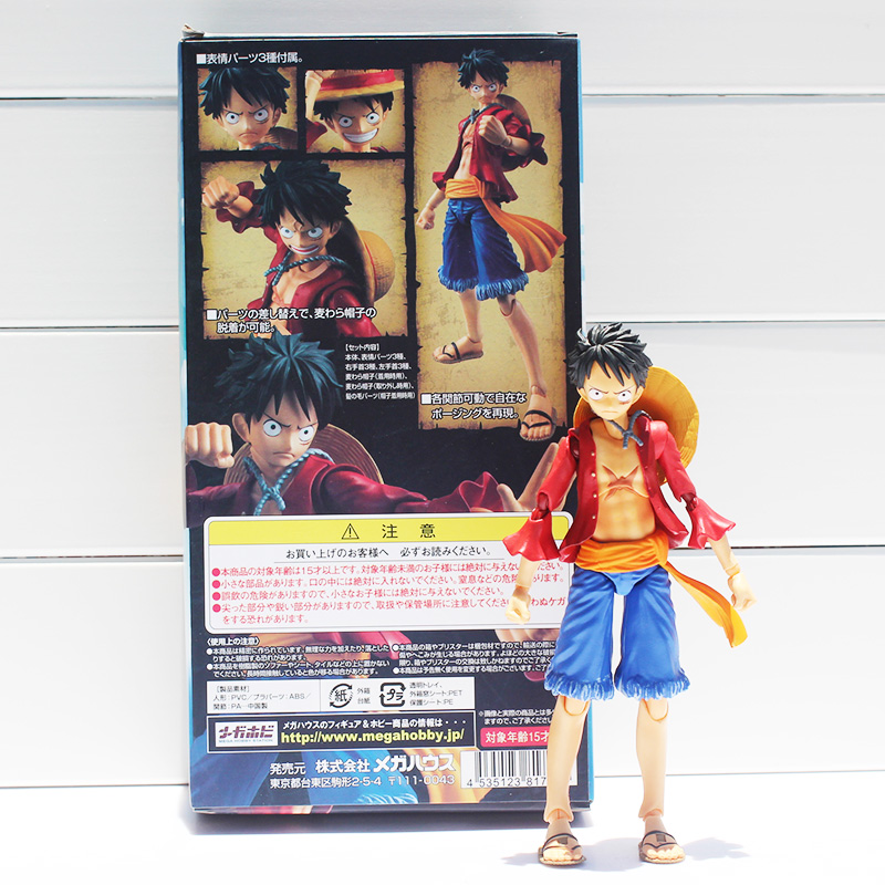 MegaHouse Variable Action Heroes One Piece Monkey D Luffy PVC Action Figure Collectible Model Toy 16CM Approx kunai