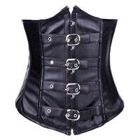 Leather steampunk corset corpetes e espartilhos para festa corsetti e bustier espartilhos sexy corsets and bustiers corpetes