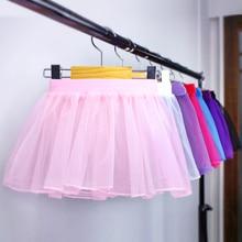 Crianças Bonitos do bebê Ballet Saia Crianças Das Meninas Rosa Leotard Ballet Tutu Skirt Elastic Ballet Desgaste da Dança