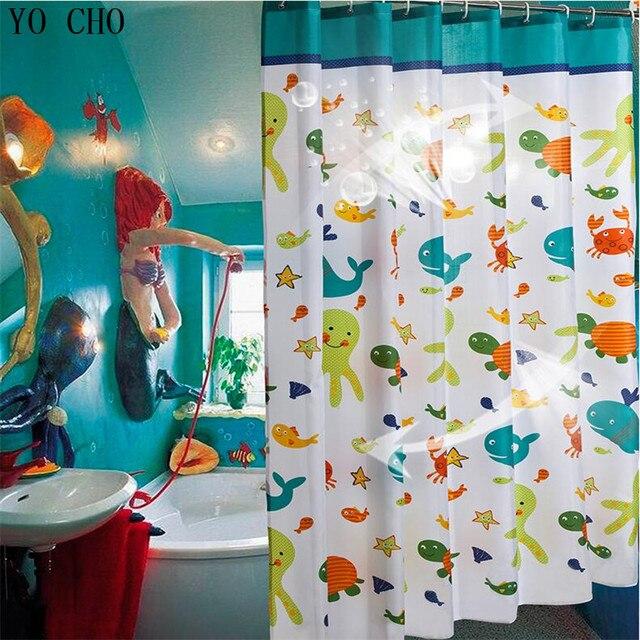 € 7.97 38% de DESCUENTO|Pulpo impermeable mar Cortina de ducha mildewproof  anime baño cortinas para el cuarto de baño accesorios cortina ganchos ...