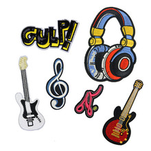 Music Notation Patch Embroidered Patches For Clothing Iron On For Close Shoes Bags Badges Embroidery food vegetable patch embroidered patches for clothing iron on for close shoes bags badges embroidery