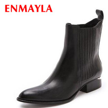 ENAYER  NEW arrivals martin boots for women sexy pointed toe ankle fashion punk knight