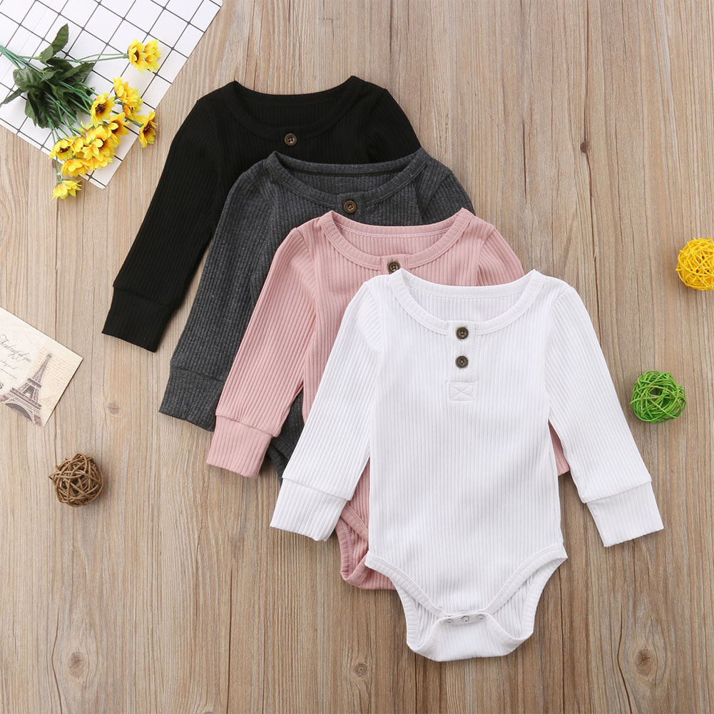 Autumn Winter Warm Knitted   Romper   For Boys Girls Newborn Baby Boy Girl Long Sleeve   Romper   Plain Jumpsuit Clothes 0-24M